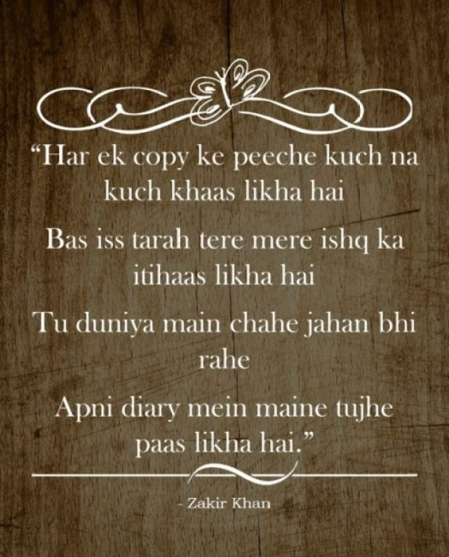 best shayari of zakir khan