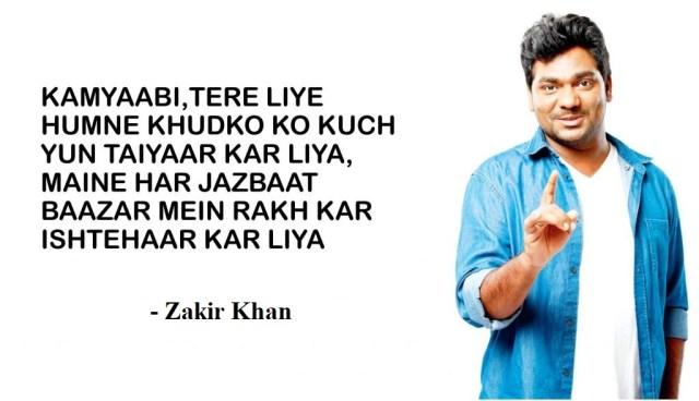 zakir khan shayar