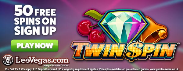 Get 50 freespins on Twin Spin from LeoVegas Casino – GuruPlay