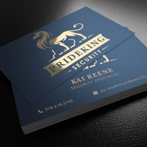 silk laminated foil business cards