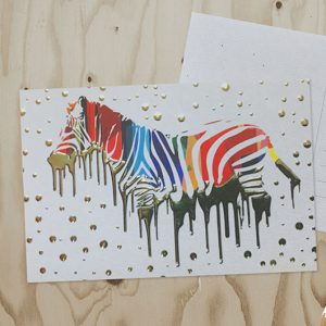 Raised Foil Postcards