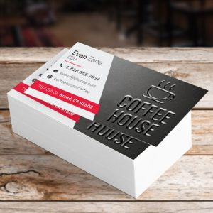 Matte Name Card with SPOT UV