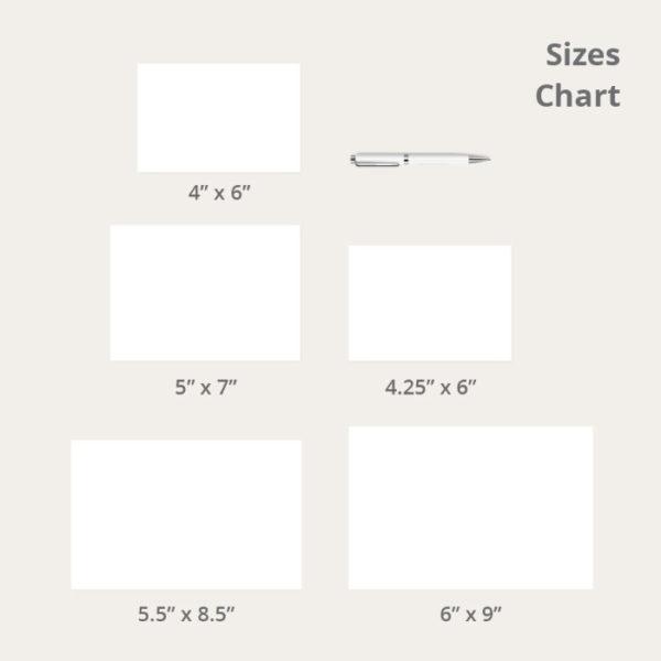 Postcard Size Chart