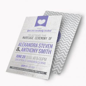 Metallic Paper Wedding Invitations
