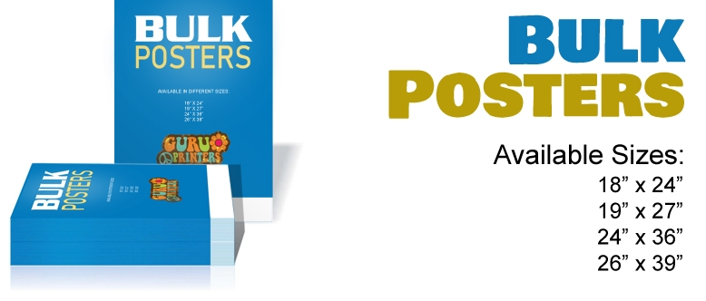 Looking to Print Posters in Bulk at a Reasonable Price?