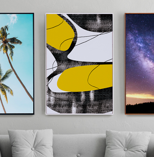 Custom Canvas Print with Floating Frame