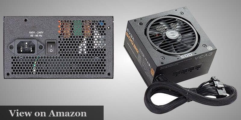 EVGA 500 BQ 80+ BRONZE 500W pc build under $1000