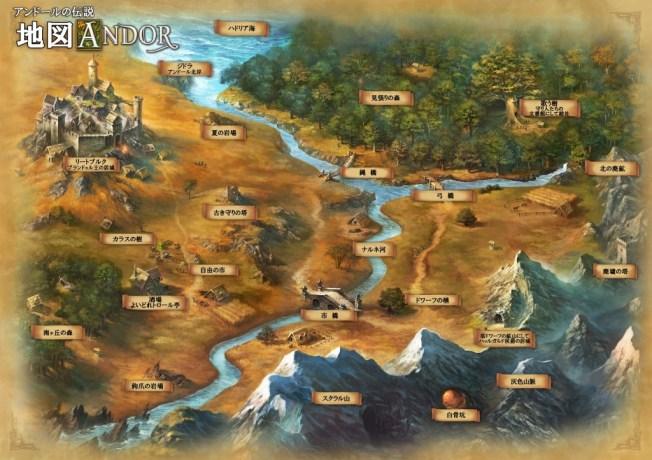 La carte d'Andor, traduite en japonais !