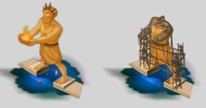 batisseurs antiquité - Croquis préparatoire