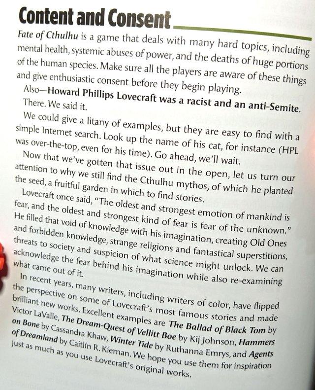Faut-il boycotter les jeux Cthulhu, parce que Lovecraft était raciste ?