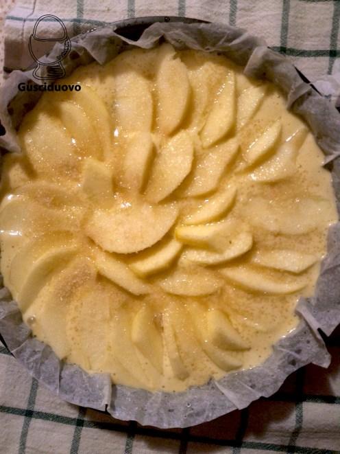 fettine di mela e zucchero di canna