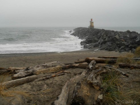 south jetty with the fog horn