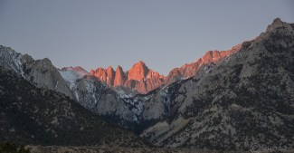 sunrise over Mt Whitney