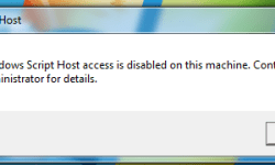 Cara Mengatasi Windows Script Host Access is Disabled on This Machine