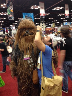 Wookie! The wookie noises he was making were spot on. Also, apparently he plays the cello dressed as a Wookie.