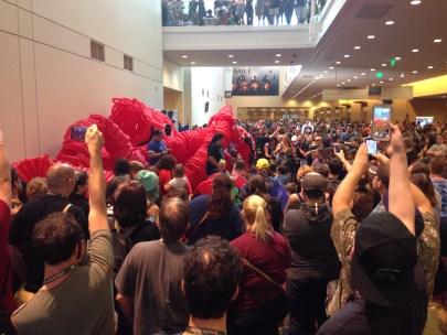 The ritual sacrifice of the balloon monster!