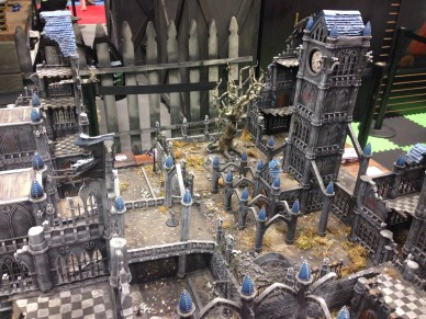 Gorgeous Malifaux table at the Wyrd Booth.