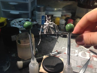 The plan is to have Ramos suspended between the Tesla coils by bolts of electricity that I will be sculpting.