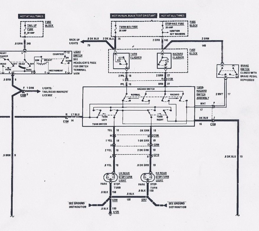 GM turn signal switch wire gm turn signal wiring diagram gm turn signal diagram at panicattacktreatment.co