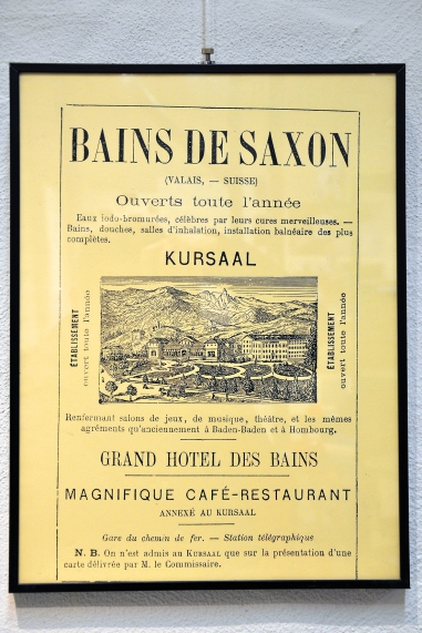 Affiche Bains de Saxon Collection / www.musees-vs.ch