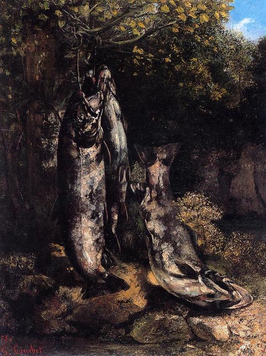 Les trois truites de la Loue, 1873 / 116X87 cm / Huile sur toile/ Kunstmuseum Berne