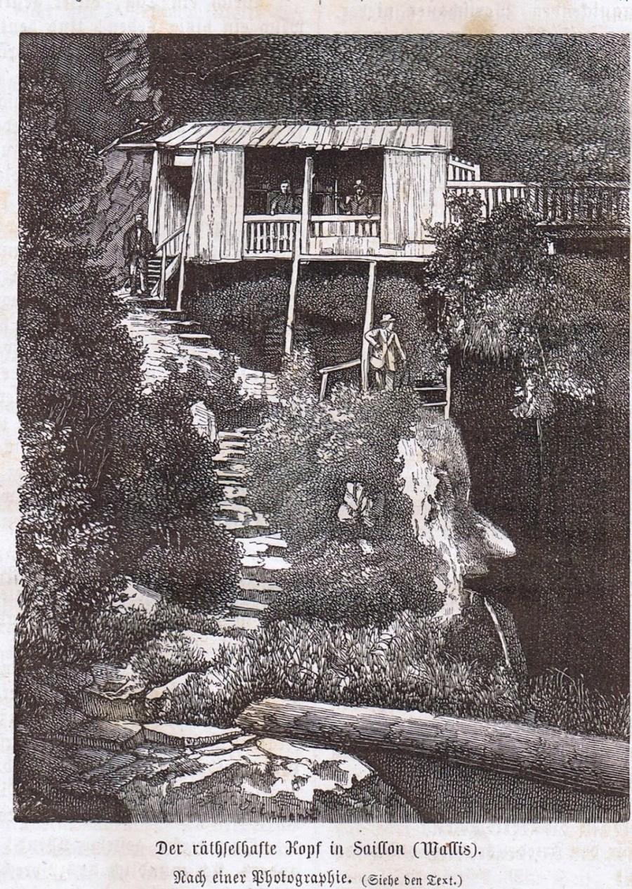 La Tête énigmatique de Saillon, Der Bund, 1869