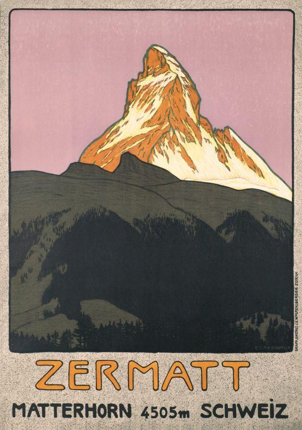 Affiche de Zermatt par Emil Cardinaux (1908)