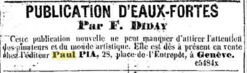 François Diday aux Editions Paul Pia à Genève.