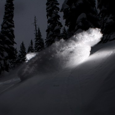 Stefan Östling deep in the canadian powder. Fernie B.C., Canada.