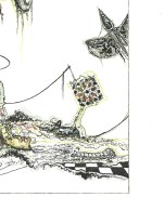 """""""Arrabal de juegos arrabales"""" (detalle), de """"Dos cartas"""". Textos de Milan Kundera y Fernando Arrabal, imágenes de Gustavo Charif."""