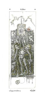 """""""Ex Libris"""", de """"Dos cartas"""". Textos de Milan Kundera y Fernando Arrabal, imágenes de Gustavo Charif."""