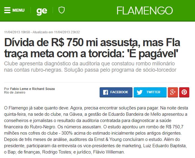 divida do flamengo é de 750 milhões estratégia flamengo