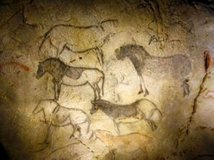 Paintings of horses in the Cave of Ekain