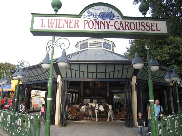 Prater Park Carousel with Ponys