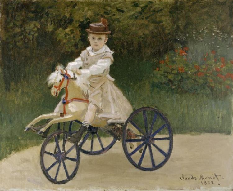 Jean Monet on his Hobby Horse (1972) - Claude Monet