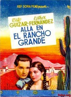 """Movie Poster of """"Allá en el Rancho Grande"""""""
