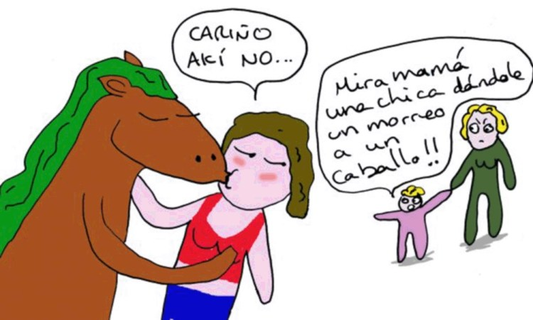 My boyfriend Horse - Kiss