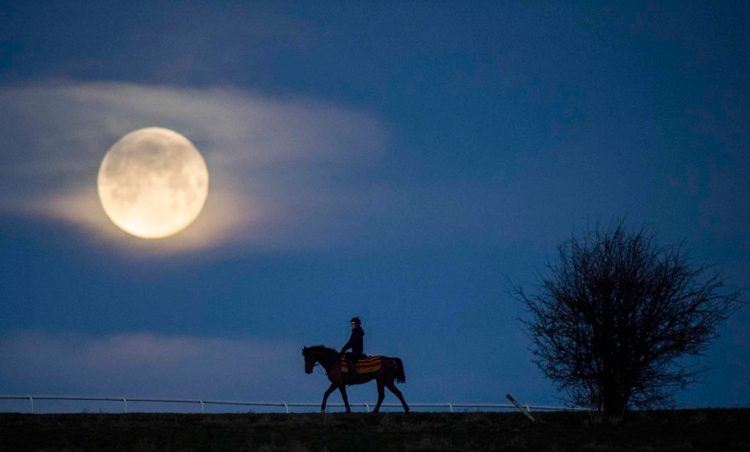 Whitaker_Edward-Horse, Rider and Moon