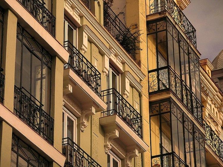 Balconies in the Salamanca district, Madrid