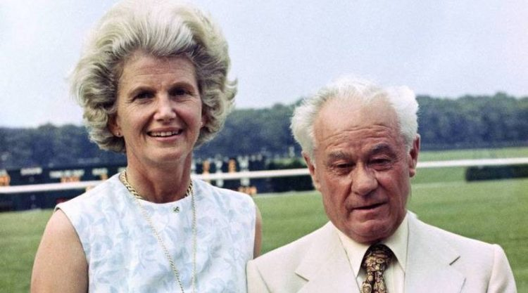 Lucien Laurin with Penny Chenery