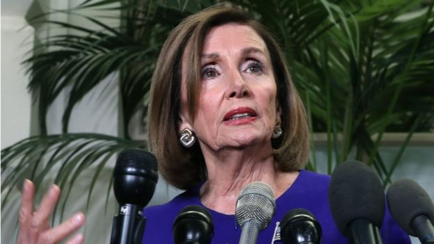 Nancy Pelosi anouncing Trump Impeachment Inquiry