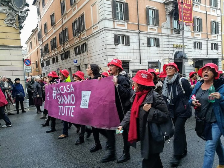 March for International Day for the Elimination of Violence against Women in Rome (2018)