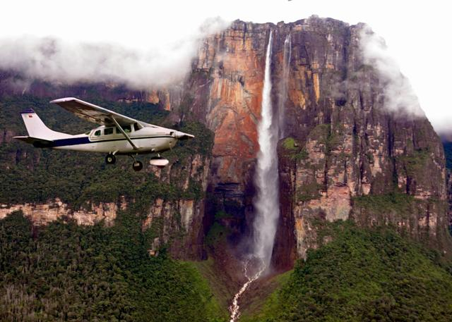 Flying over Angel Falls
