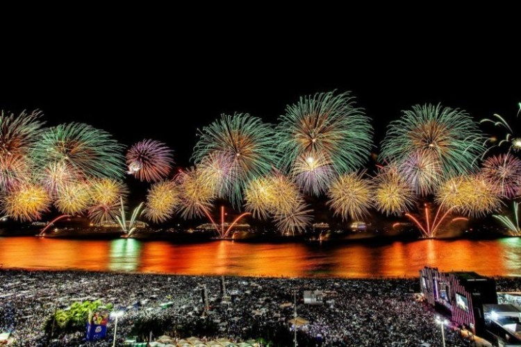 New Year's Eve celebration in the world Copacabana – Brasil