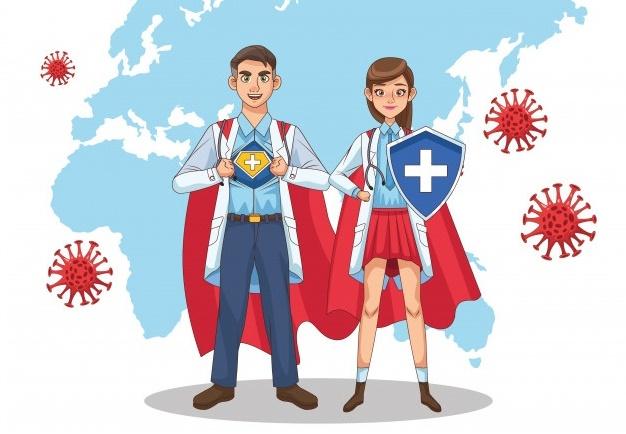 Doctors and nurses are superheroes