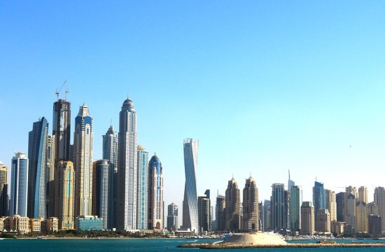 Looking at the Dubai coast
