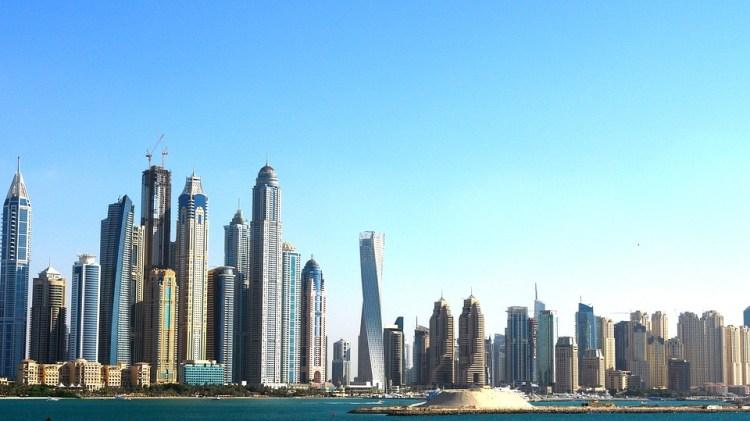 Looking at the Dubai coast