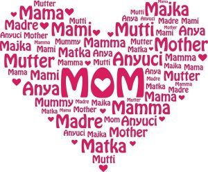 """Mom"" in many languages"
