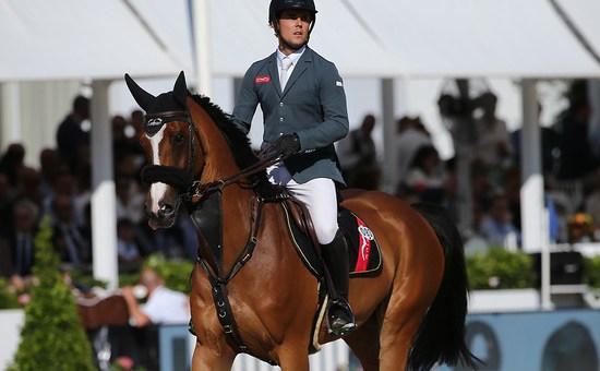 Spanish rider Sergio Alvarez Moya with G&C Arrayan, the horse that has given joy to Gustavo Mirabal