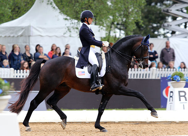 Allison Brock and her horse Rosselvet